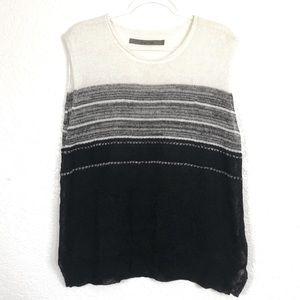 Enza Costa linen striped knit top sz. M